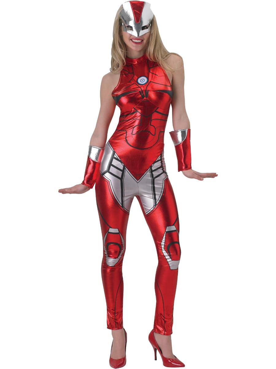 Marvel Universe Womens X-Men Storm Black Cat Suit Jumpsuit Halloween Costume