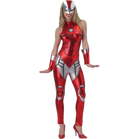 Adult's Womens Marvel Iron Man Rescue Liquid Metal Jumpsuit Costume
