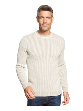 Tasso Elba Mens Vertical Striped Crew Pullover Sweater