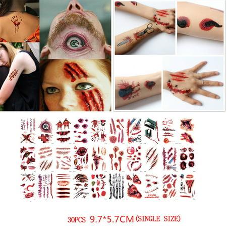 Vampire Bite Temporary Tattoos (30 PCS Waterproof Halloween Vampire Temporary Tattoo)
