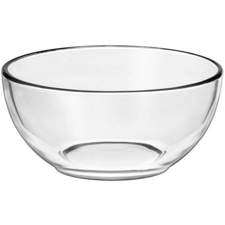 Libbey Moderno Cereal or Salad Glass Bowl, Set of 12 (Glass Large Salad Bowl)