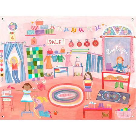 Oopsy Daisy Boutique Canvas Wall Mural 42x32 Jill