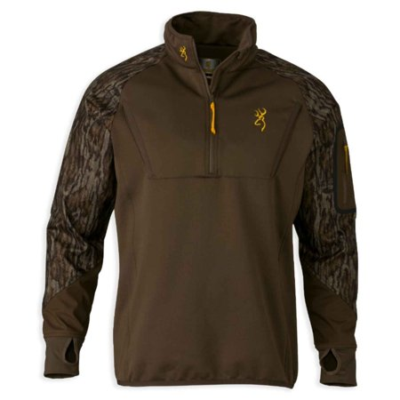 Browning Wicked Wing Timber Fleece 1/4 Zip Top Realtree Max-5,