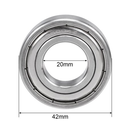 S6004ZZ Stainless Steel Ball Bearing 20x42x12mm Double Shielded 6004Z Bearings - image 3 de 4