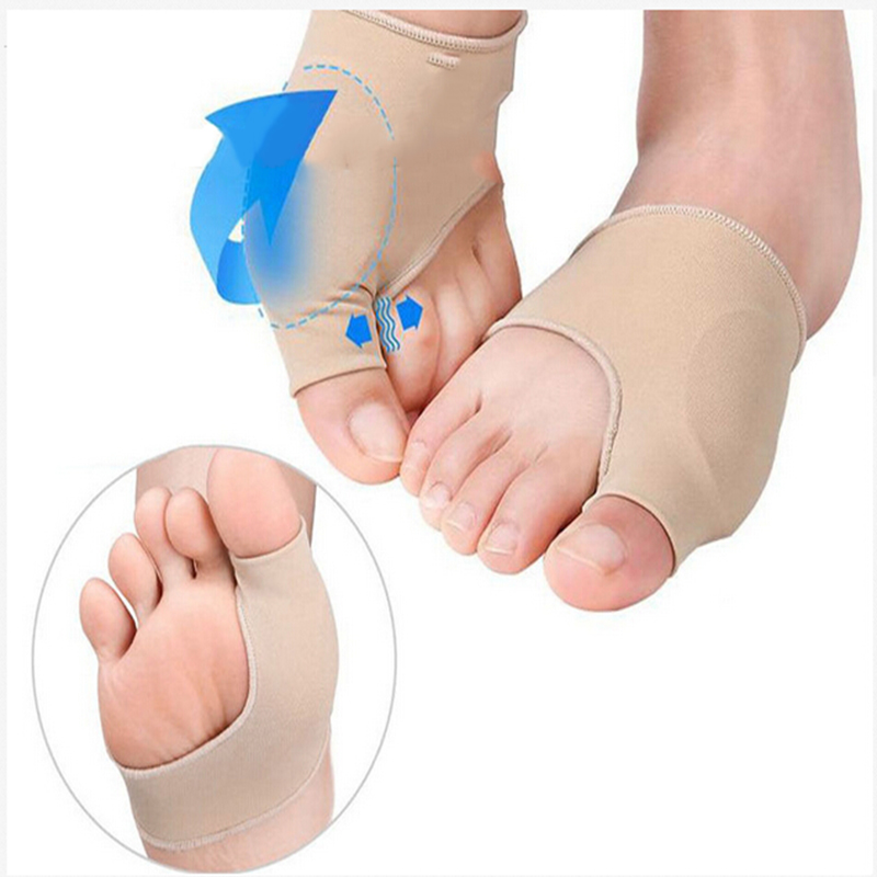 Bunion Relief Sleeve Lycra Fabric Hallux Vagus Gel Pads Bunion Separator Cushion Protector Sleeves