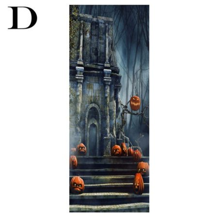 3D Halloween Pumpkins Door Wall Sticker Self-adhesive Mural Sticker PVC Durable Door Wall Sticker - image 4 of 5
