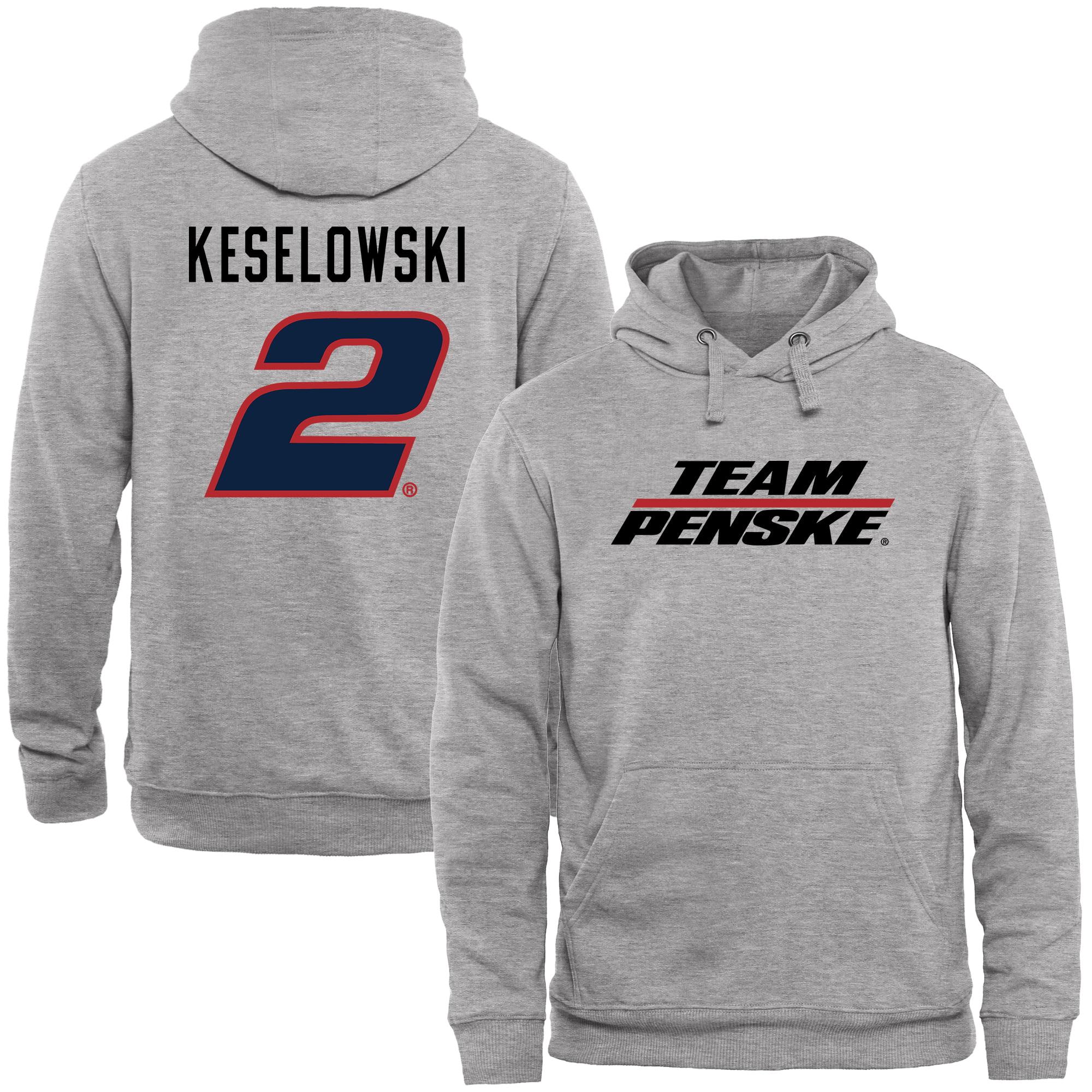 Brad Keselowski Driver Name & Number Pullover Hoodie - Ash