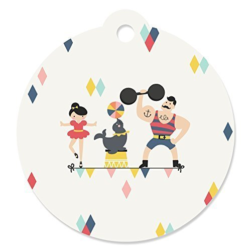 Carnival Circus - Cirque du Soiree - Baby Shower or Birthday Party Favor Gift Tags (Set of 20)