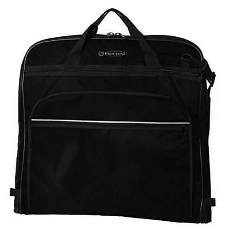 Prottoni 44 Premium Garment Bag With Shoulder Strap Suit Multiple Pockets