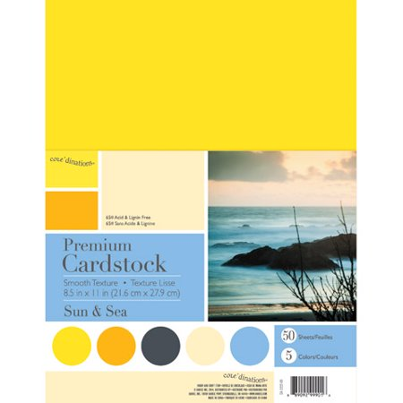 Coredinations  Cardstock Smooth  Sun And Sea  8 5 X 11  50 Sheets