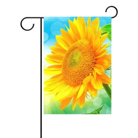 POPCreation Sunflower Garden Flag Banner 28x40 Inches Summer Garden Decorative Flag for Anniversary Home Outdoor Garden