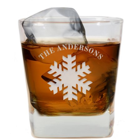 Personalized Gifts Snowflakes Whiskey Glass New Ideas