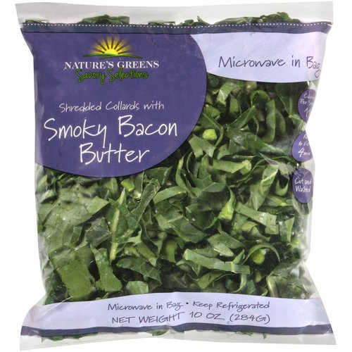 Nature's Greens Savory Selections Shredded Collards with Smoky Bacon Butter, 10 oz