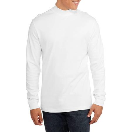 Big men 39 s mock neck shirt best mens big tall t shirts for Big and tall mock turtleneck shirt