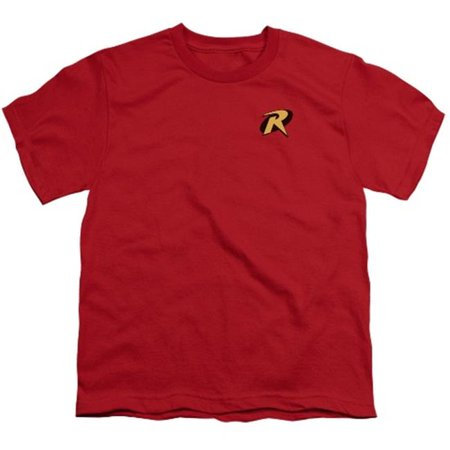Robin Logo S/S Youth 18/1 Red - Batman And Robin Young Justice