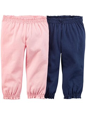 Baby Girls' 2 Pack Pants (Baby) - Navy/Pink - 3 Months