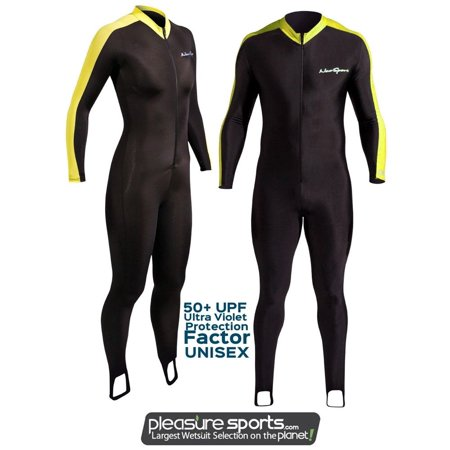 - NeoSport by Henderson Skin Suit Sport Skin Black and Yellow 50+ UV Protection