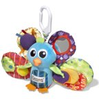 Lamaze Jacque the Peacock Clip & Go Toy, Baby Car Seat Toy