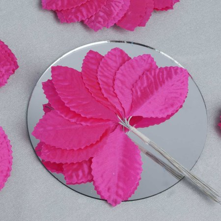 Nest Red Leaf (BalsaCircle 144 Silk Craft Leaves - Mini Flowers for DIY Wedding Party Favors Decorations)