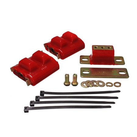 - Energy Suspension 73-92 Chevrolet Camaro Red Motor and Transmision Mounts; Zinc Finish