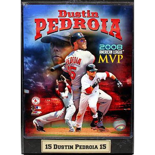 MLB Dustin Pedroia Photo Plaque, 9x12