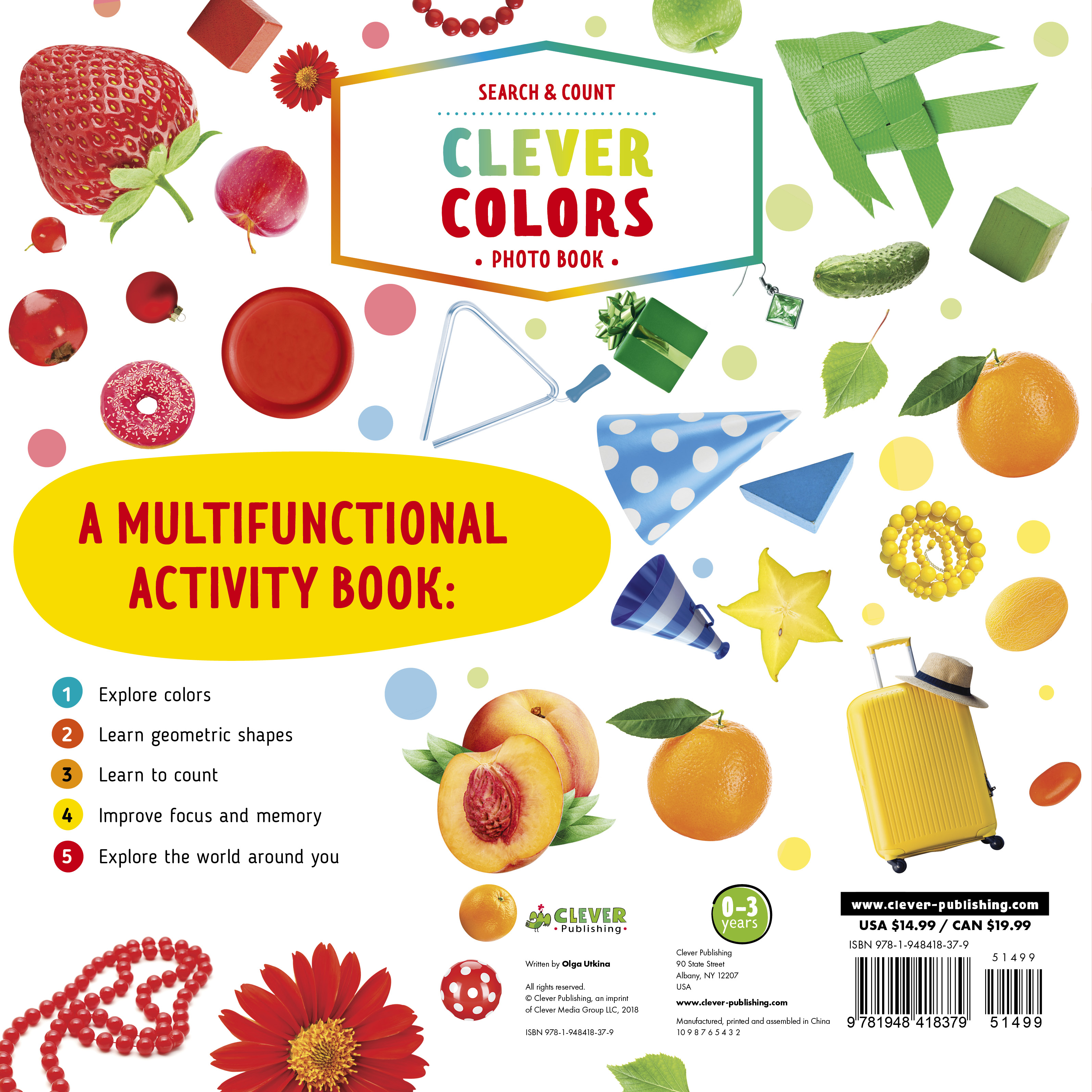 Clever Colors Photo Book : 700 Things To Learn - Walmart com