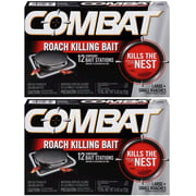 Combat Large and Small Roaches Killing Bait Stations, 12 Count (Pack of 2) Total 24 Bait Stations