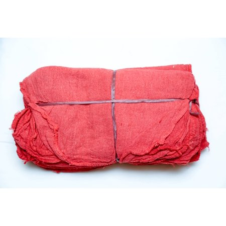 Affordable Wipers Red Shop Towels Cleaning Wiping Rags & Cloths - 100 Pieces