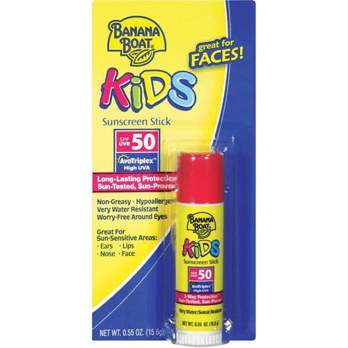 Banana Boat Kids SPF 50 Sunscreen Stick, .55 oz