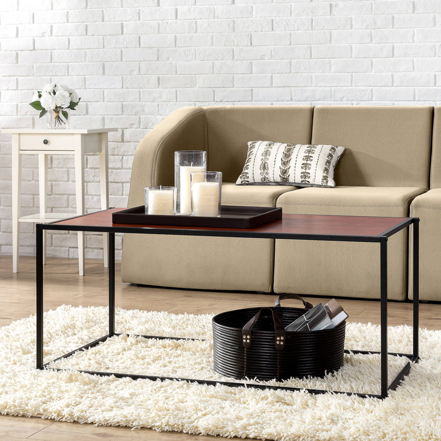 Modern Studio Collection Classic Rectangular Coffee Table