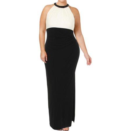 Lauren Ralph Lauren Womens Azusiana Matte Jersey Embellished Evening Dress