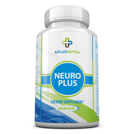 Neuro Plus Nootropic Brain Booster - Natural Brain Function Support for Memory, Focus & Clarity - Mental Performance by A Plus Nutra