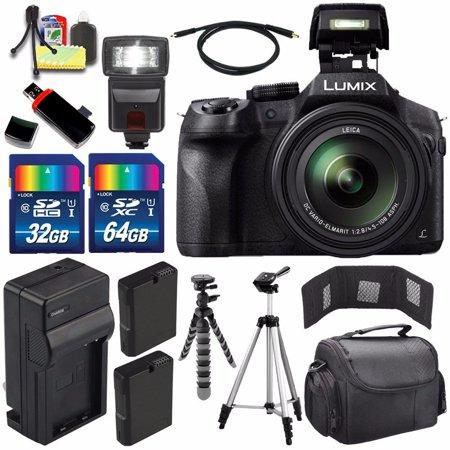 Panasonic Lumix DMC-FZ300 Digital Camera + Extra battery + Charger + 96GB Bundle