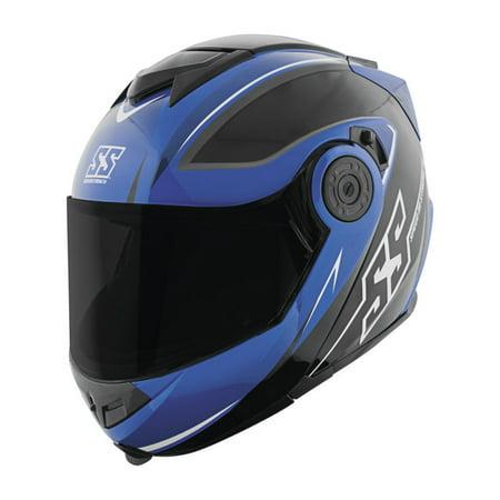 Blue Modular Motorcycle Helmet (Speed & Strength SS1710 Split Decision Modular Motorcycle Helmet Blue/Black)