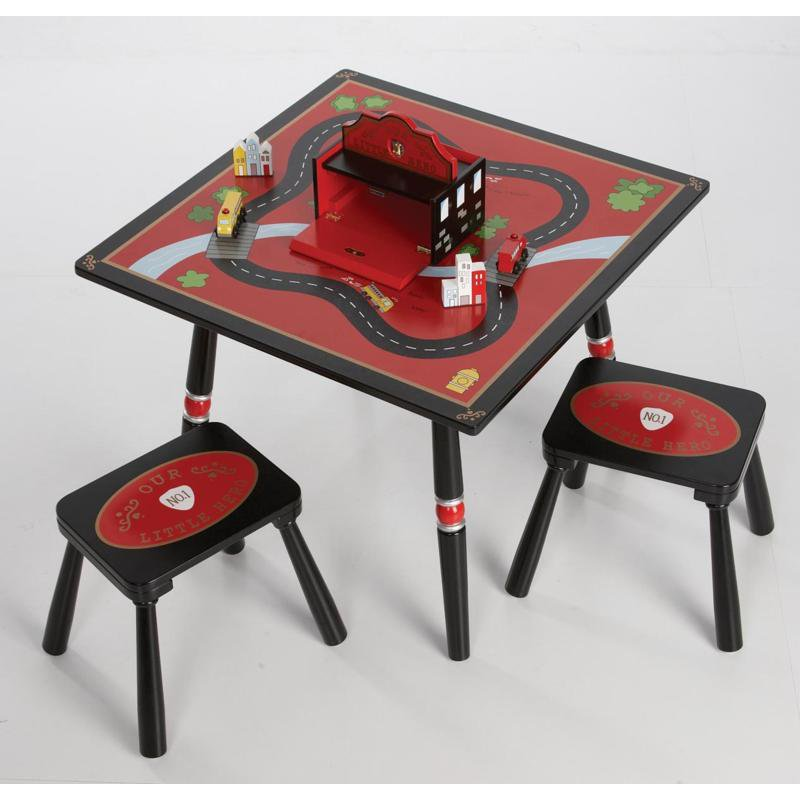 Wildkin Firefighter Table & 2 Stool Set