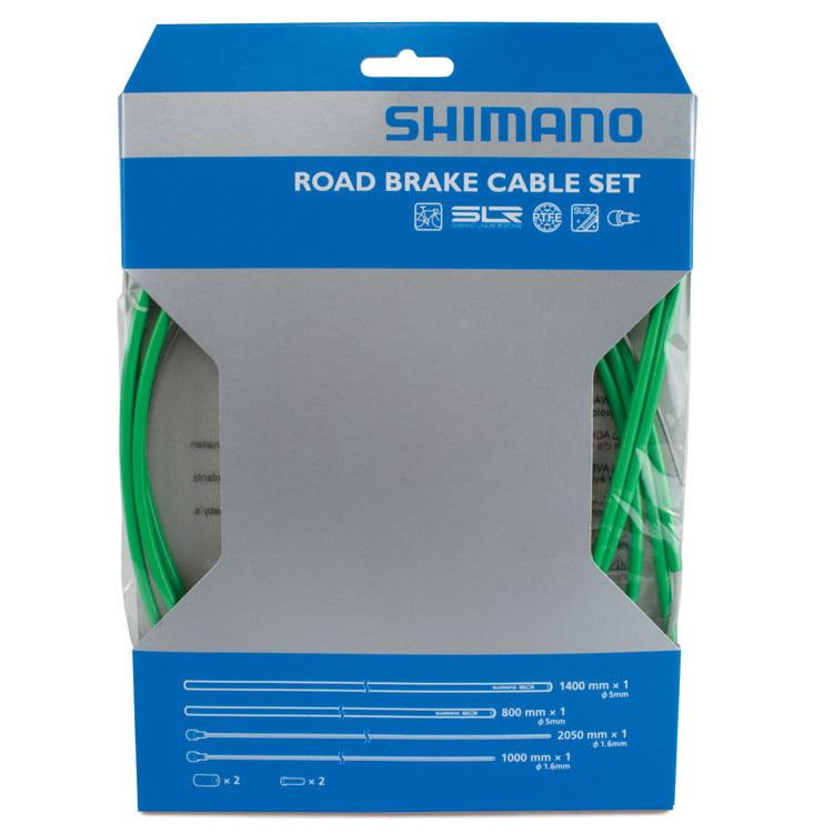 Shimano PTFE Brake Cable Set Green