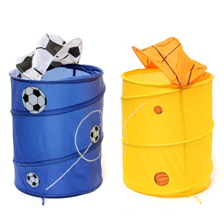 Kids Foldable Laundry Hamper Up Football Basketball