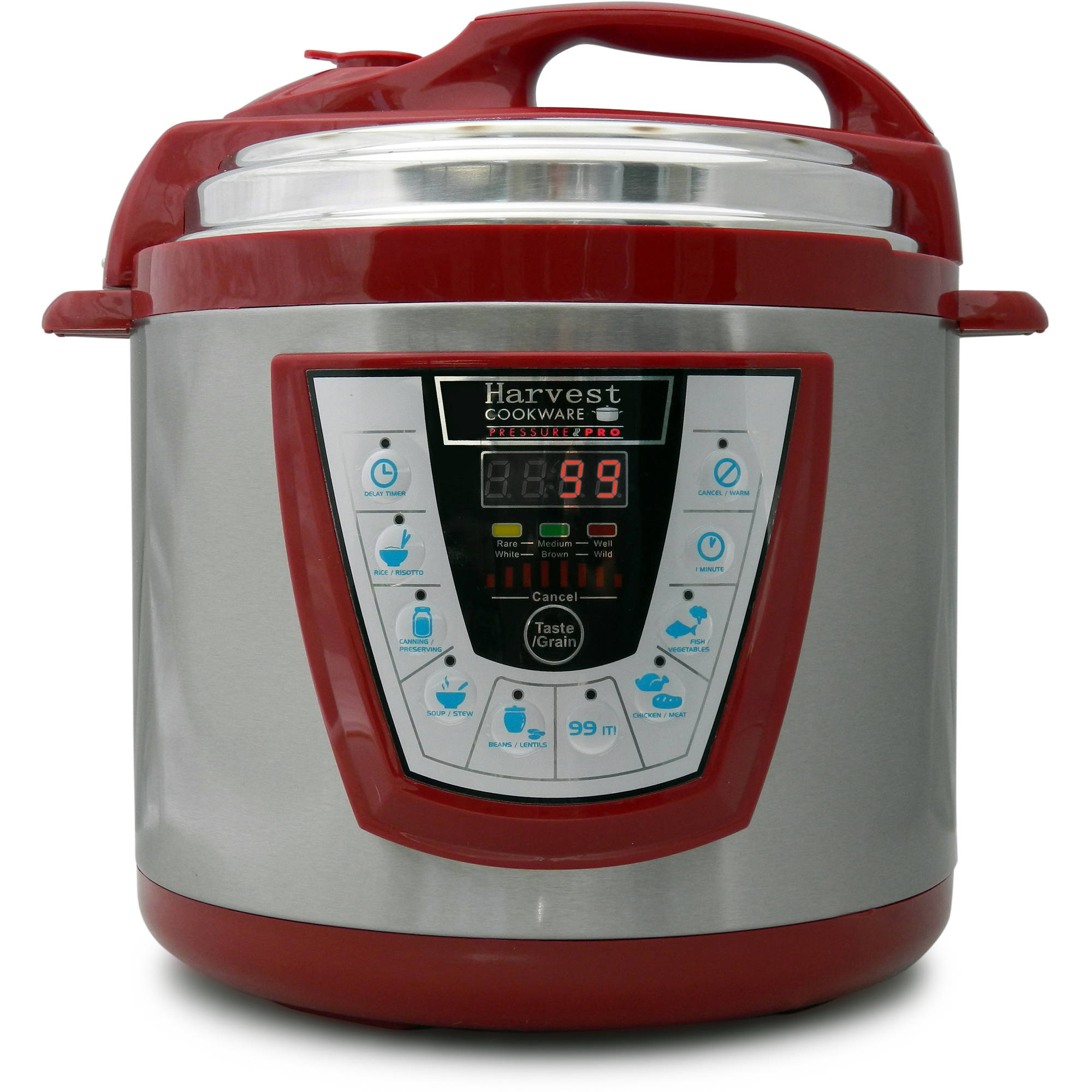 Harvest Cookware Electric Original Pressure Pro 6-Quart Pressure Cooker, Red