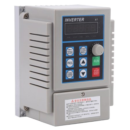 WALFRONT AC 220V 0.75kW Variable Frequency Drive VFD Speed Controller Inverter Single Phrase, Variable Speed