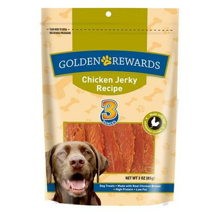 Golden Rewards Chicken Jerky Dog Treats, 3 oz - Walmart.com