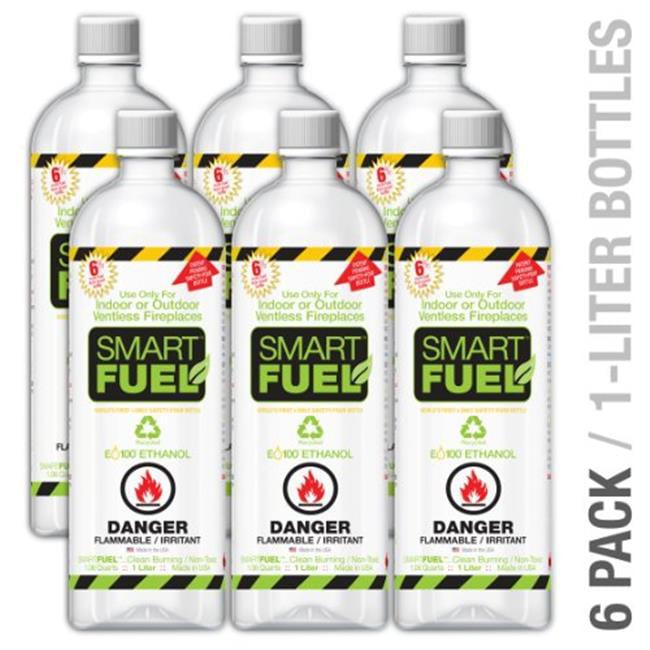 Anywhere Fireplace SF06 Smart Fuel Liquid Bio-ethanol fuel 6 pack liter bottles