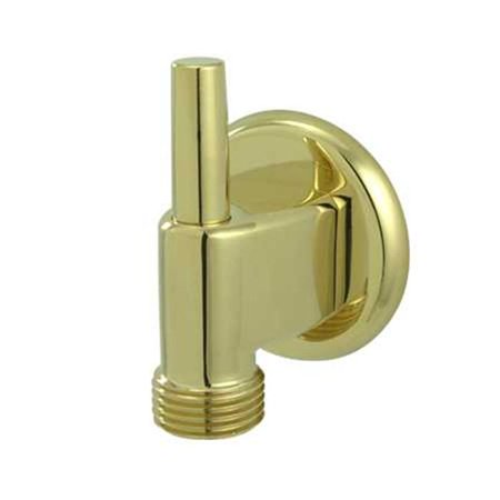 Wall Mount Water Supply Elbow with Pin Wall Hook  Polished Brass