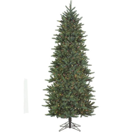 75 slim fresh cut carolina frasier artificial christmas tree multi pre lit
