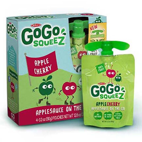 GoGo Squeez Apple Cherry Applesauce 3.2 oz Pouches - Box ...