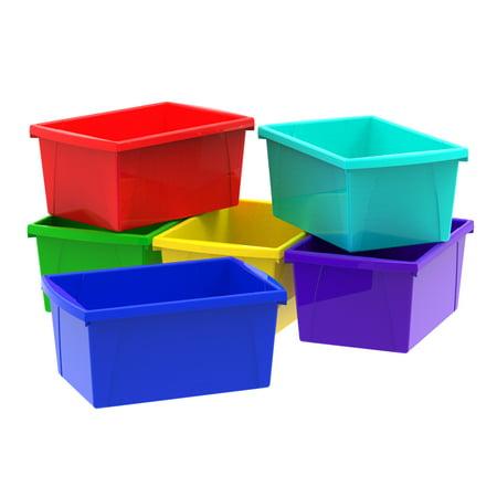 4 Gallon/15L Classroom Storage Bin, Assorted Colors (6 units/pack)](Classroom Storage)