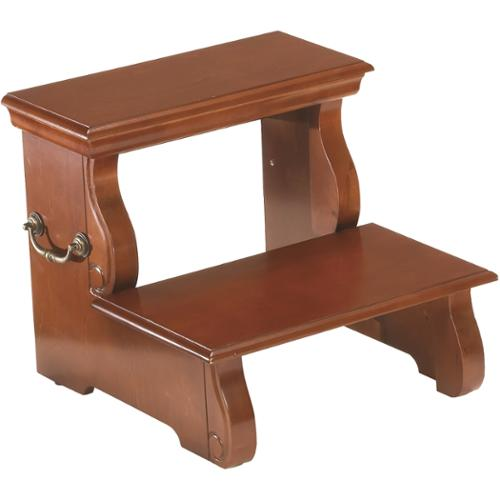 Wooden 2-stair Step Stool Cherry Step Stool