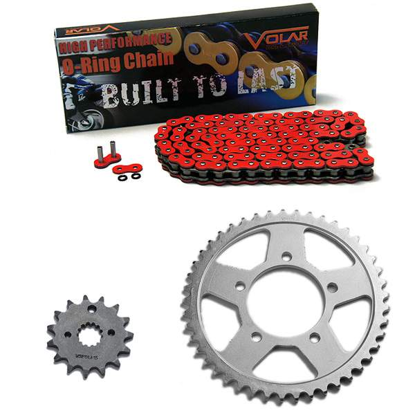 1996-2003 Suzuki Bandit 600 GSF600S O-Ring Chain and Sprocket Kit Red