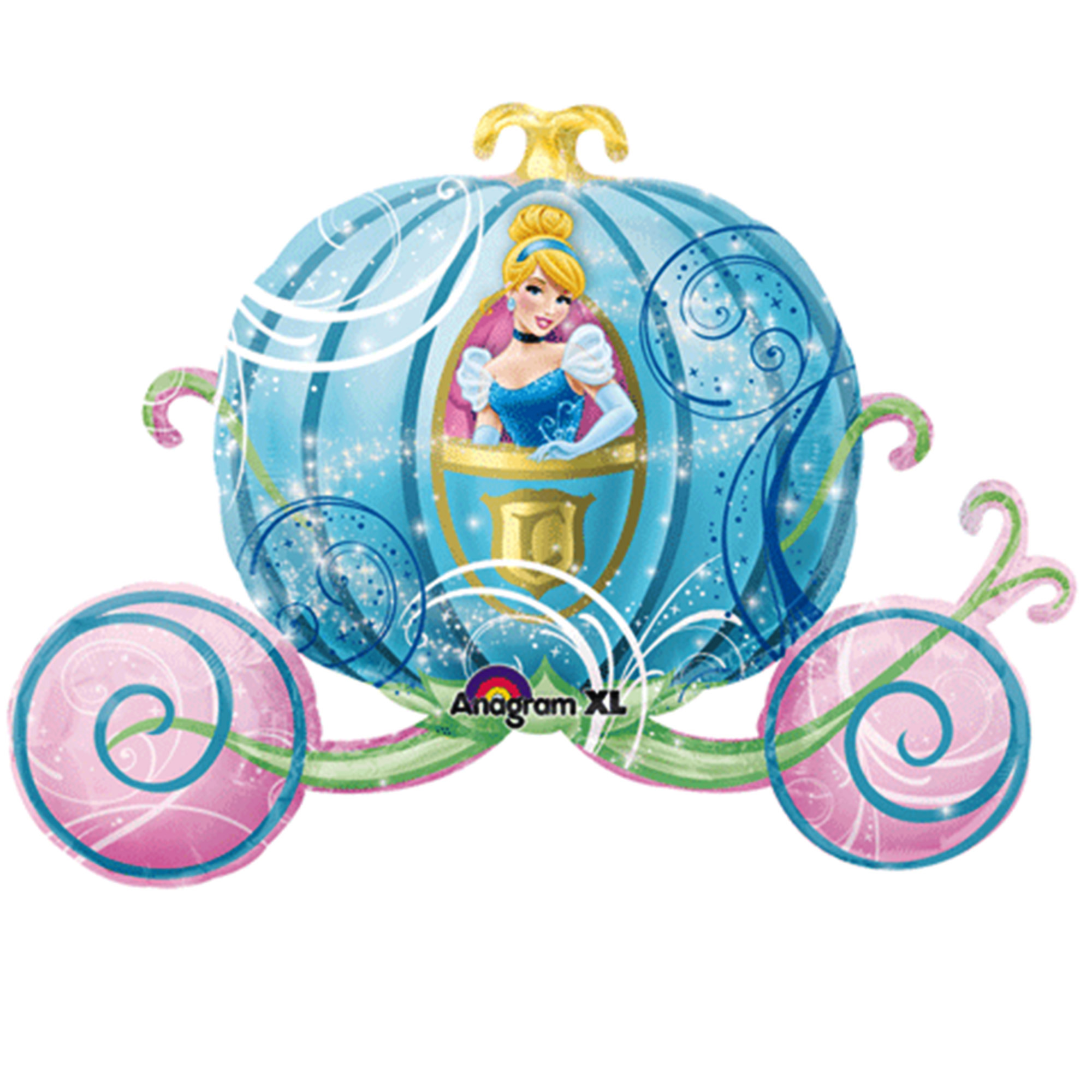 Disney Princess Cinderella Carriage Foil Balloon 33""