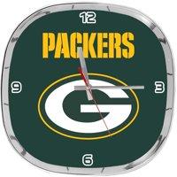 Green Bay Packers Chrome Clock- Green Bay