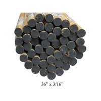 "Cindoco 36010010 Dowel Rod Hardwood 36"" X 3/16"" Color Coded Gray -Pack Of 5"